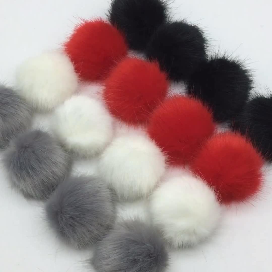 Removable Faux Fur Pom Pom Clips