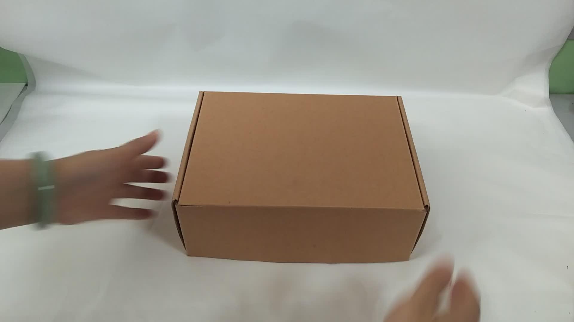 Groothandel custom Kraft gegolfd verzending opvouwbare doos goedkope vlakte schoen verpakking doos