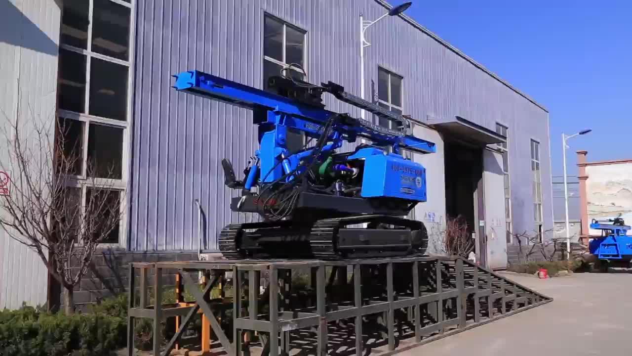 Hydraulische/elektrische spiraalvormige grond schroef stapel driver met boormachine