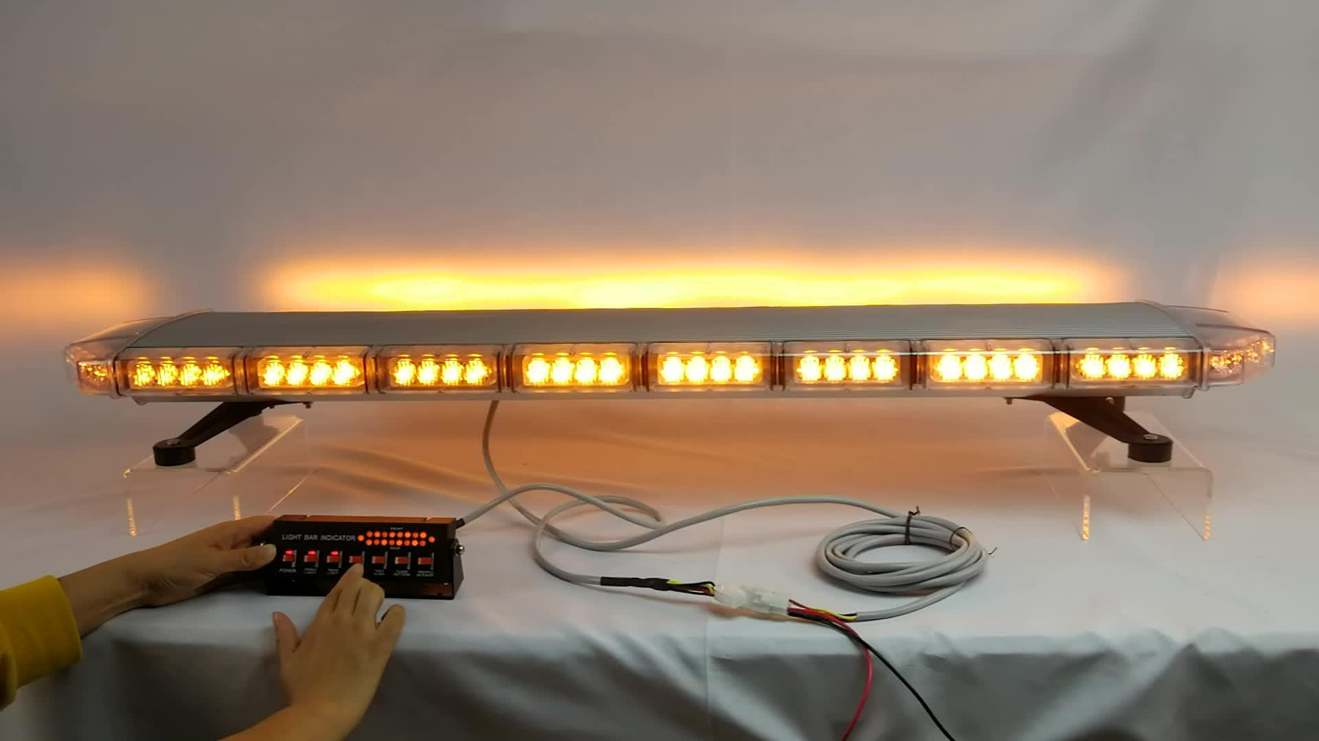 Security Vehicle Amber Strobe Lightbar Led emergency light bar use in Armored Cars (TBD20926)
