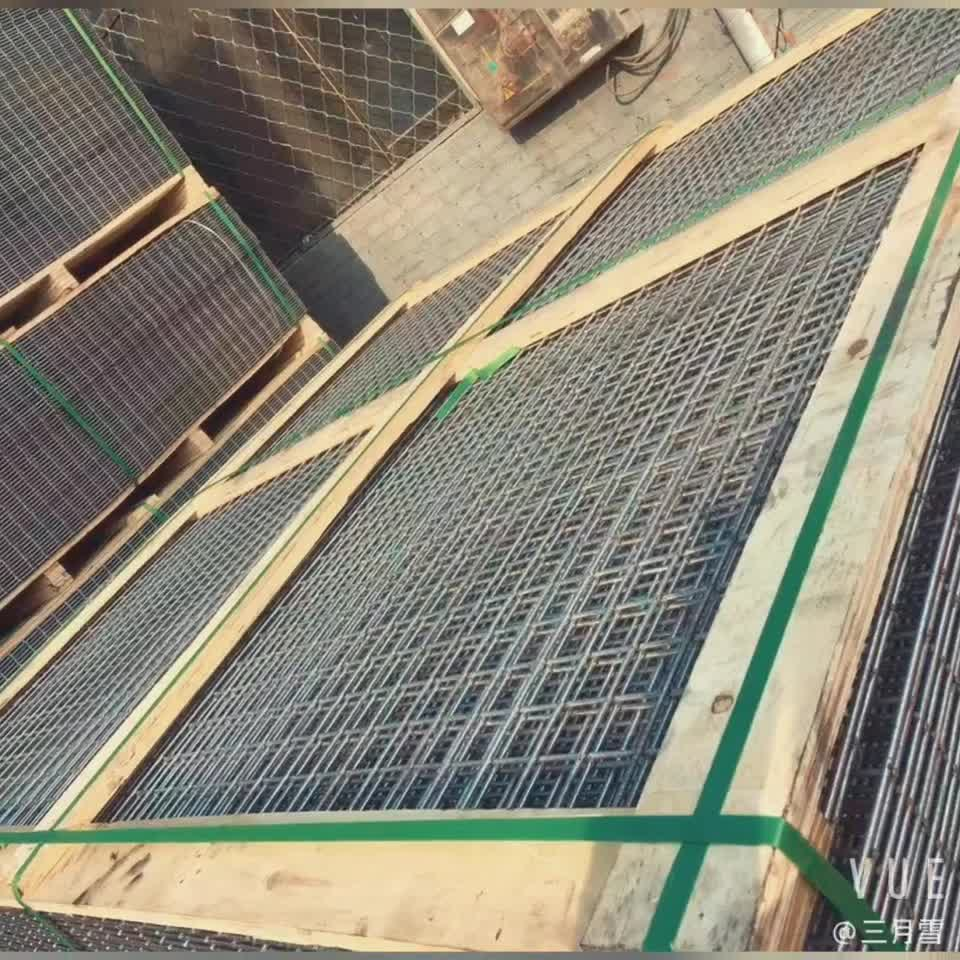welded wire mesh 4mm dia. iron wire 1.8 m X 6 meter panel used in temporary support with shotcrete in excavation works