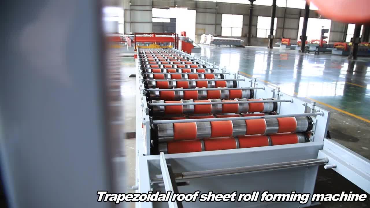 Çin üretimi metal çatı galvanizli oluklu sac kiremit yapma makinesi renk çelik rulo şekillendirme makinesi