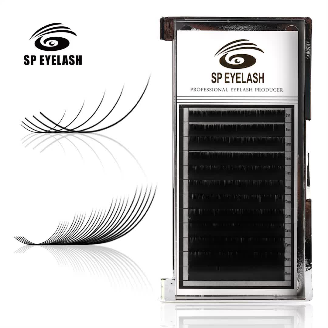 SP Lashes0.05mm 0.07mm synthetische zijde wimpers platte base individuele wimper extension lade volume