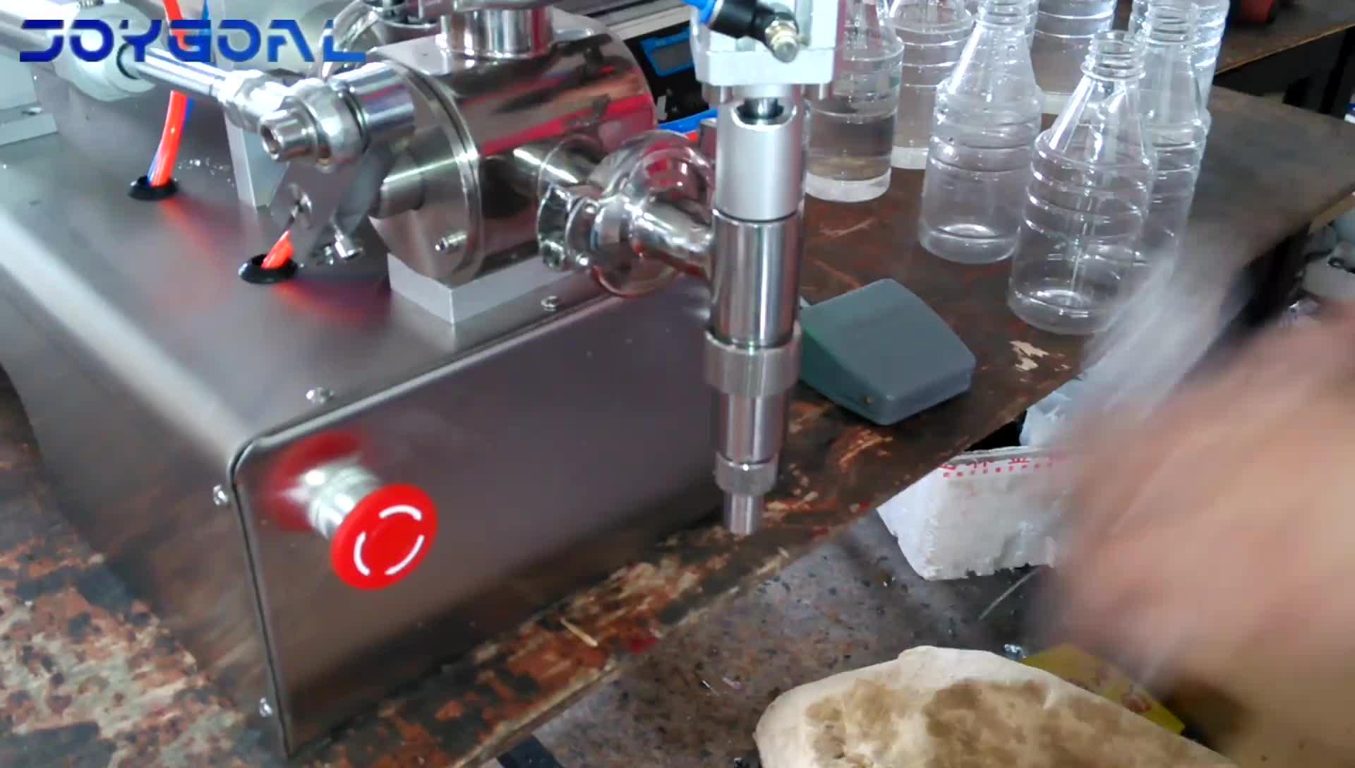 Schokoladenpaste halbautomatische Füllmaschine für Plastiktüten und Schachtel aus Glasflaschen