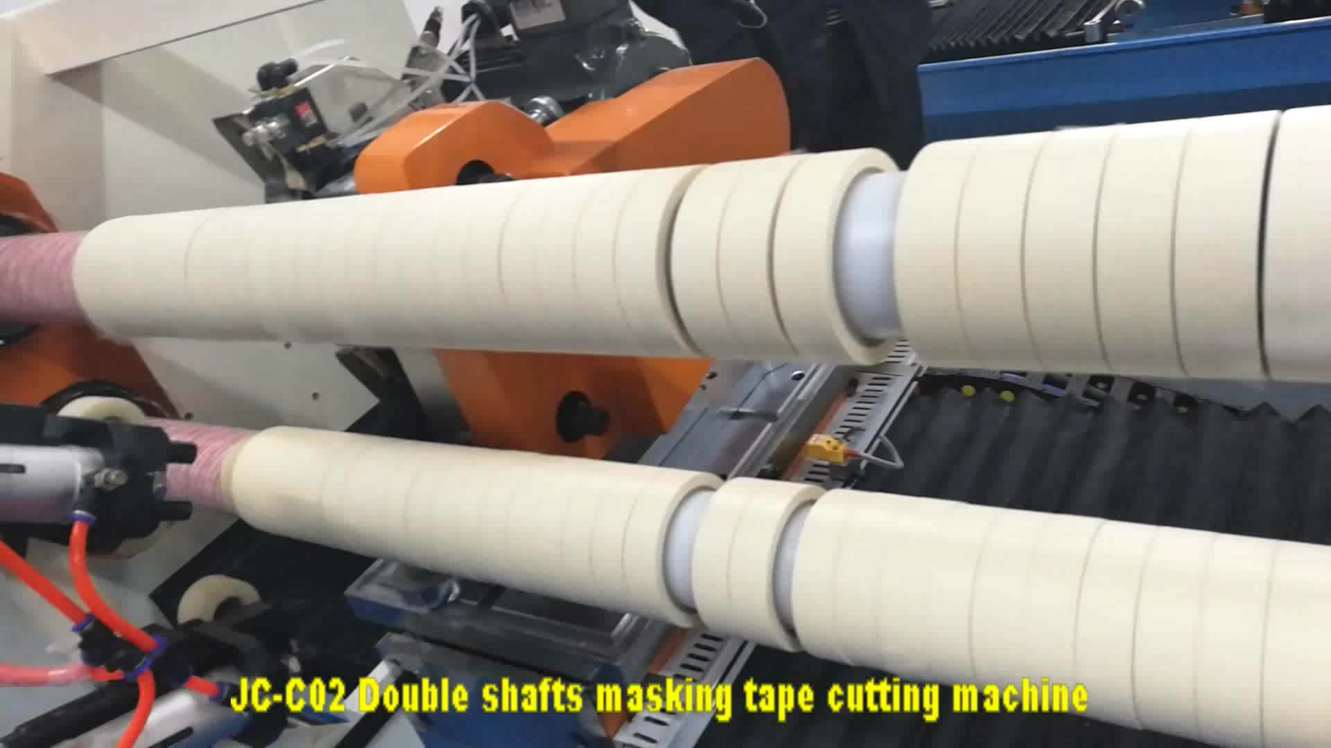 Fast speed masking tapes log roll cutter machine