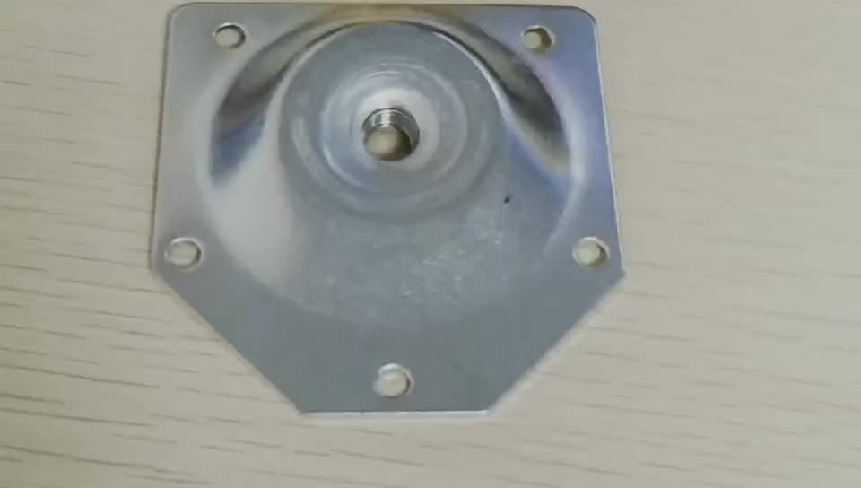 """Chair base metal plates 67*70mm M8 5/16"""" a set of hanger bolt angle top leg mounting plate"""