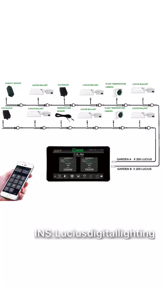 Lucius Digital Controller With 4G WIFI APP For CMH HPS MH HID Ballast LED Fixture