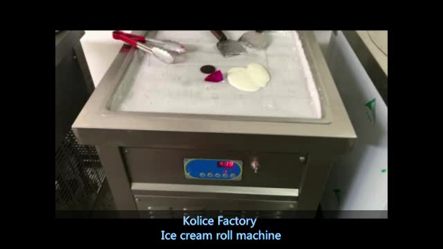 CE ROHS Approved 50cm Double Square Pan FRY Fried Ice Cream Roll Machine With 10 cooling Tanks