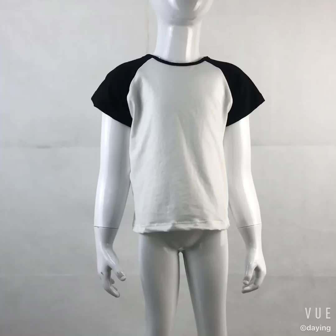 2018 Offre Spéciale Enfants Boutique Vêtements Raglan T-shirts En Gros Bébé Garçons Et Filles Raglan Chemises