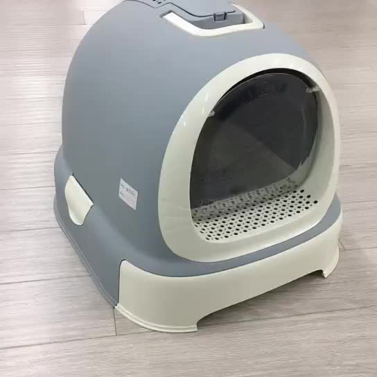 Factory Wholesale Anti-splash Cat Sand Pot Fully Enclosed Cat Toilet Box Cleaning Cat Litter Box Toilet