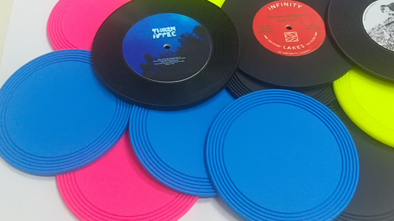 silicone custom logo 3d rubber pvc drink coaster