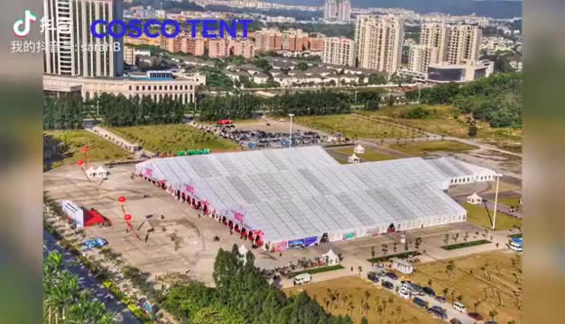 COSCO Outdoor Aluminum Structure Large Event Tent, Double Decker Tent With Glass Windows and Doors