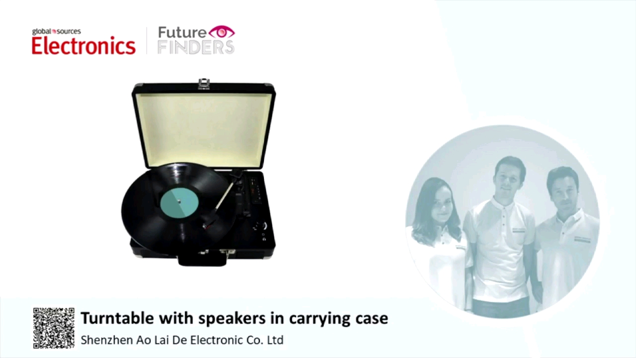 All in one Suitcase Retro LP Vinyl turntable record player wholesale with USB, TF, Bluetooth, FM, USB or TF recording