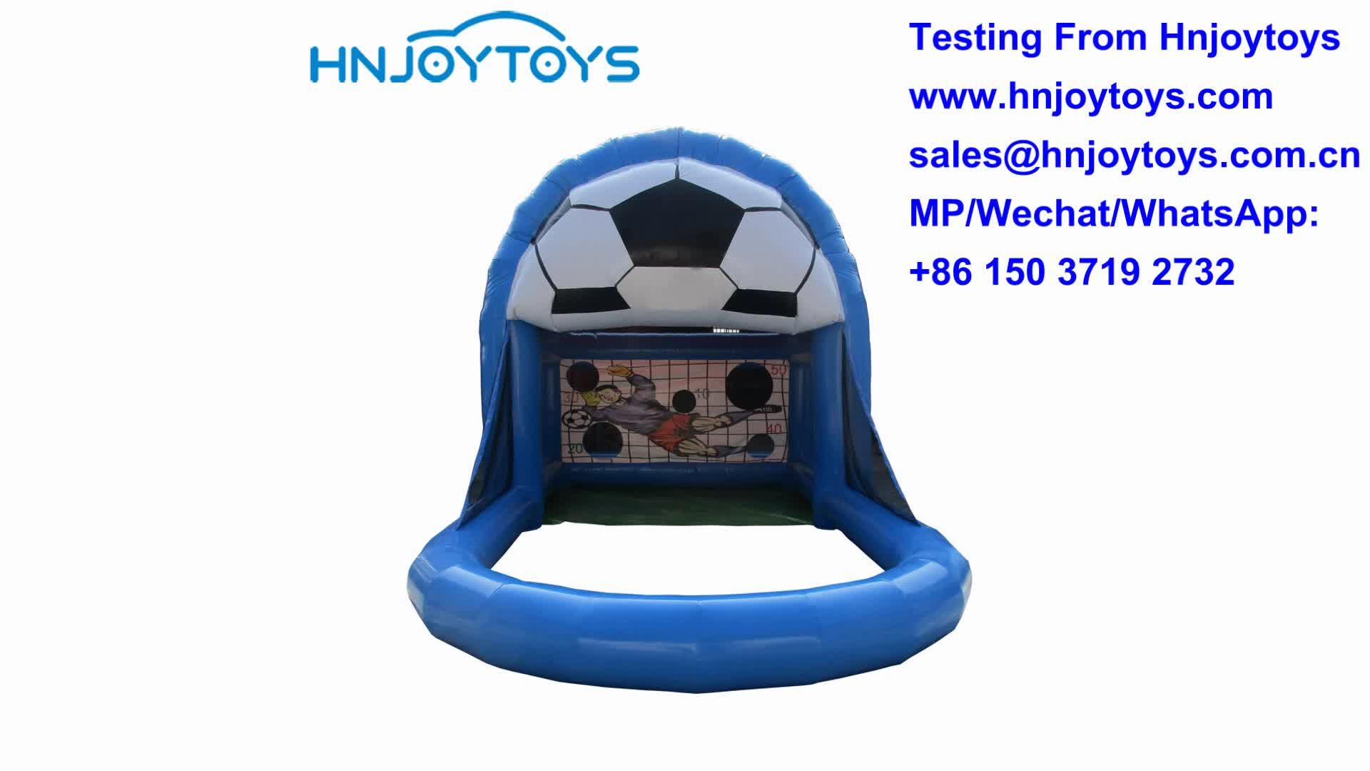 Commercial use sales foot dart Inflatable Bouncy soccer Court  for kids