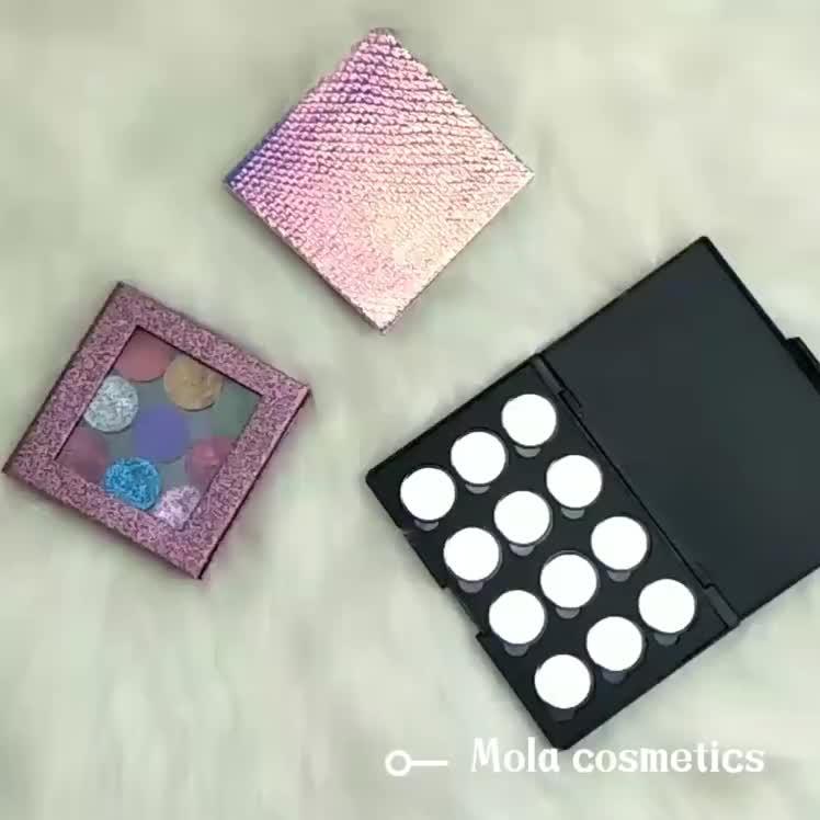 तालक नि: शुल्क अपनी खुद की उज्ज्वल DIY आंखों के छायाएं पैलेट खाली चुंबकीय पैलेट निजी लेबल
