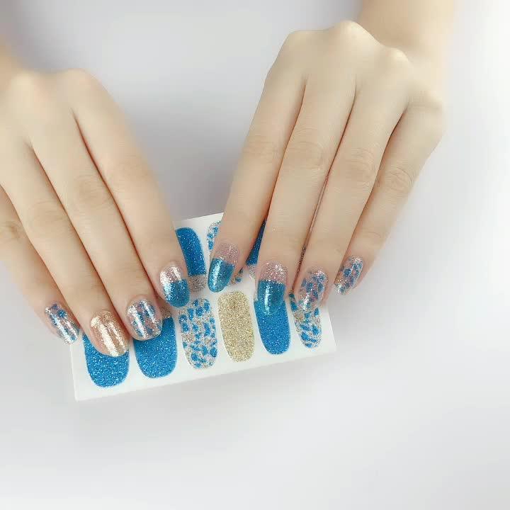 Kualitas Tinggi Warna-warni Dekorasi Nail Art Stiker Kuku Nail Patch