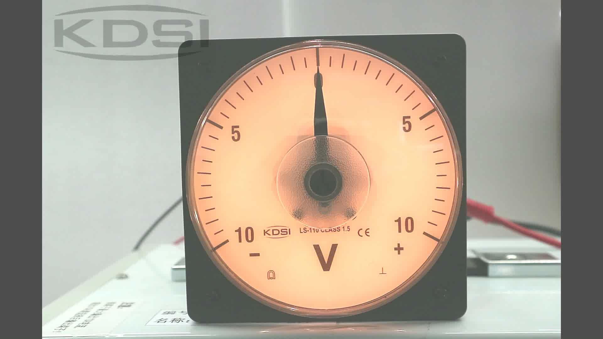 New Hot Sale Smart LS-110 DC+-10V backlighting analog  dc panel mount voltmeter