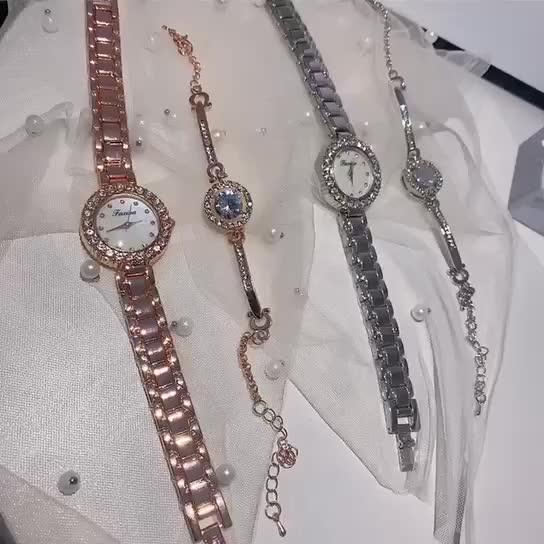 Hot selling watch set bracelet watch two piece simple watch