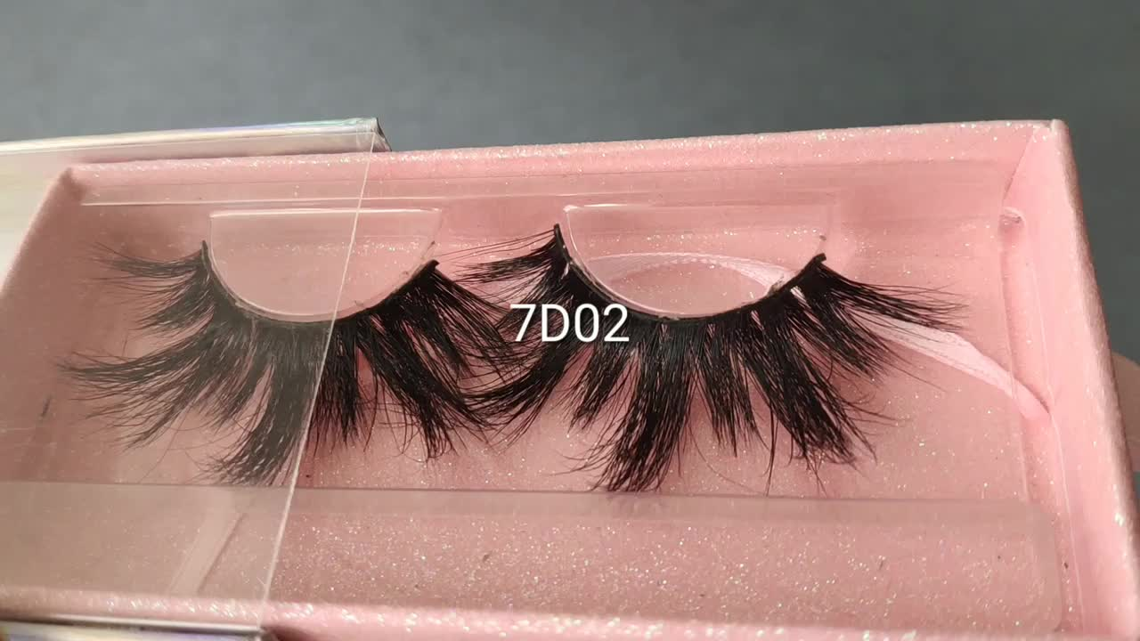 2019 New Styles 7d mink eyelashes Wholesale 26mm Mink Fur Lashes Private Label Eyelash with costom package
