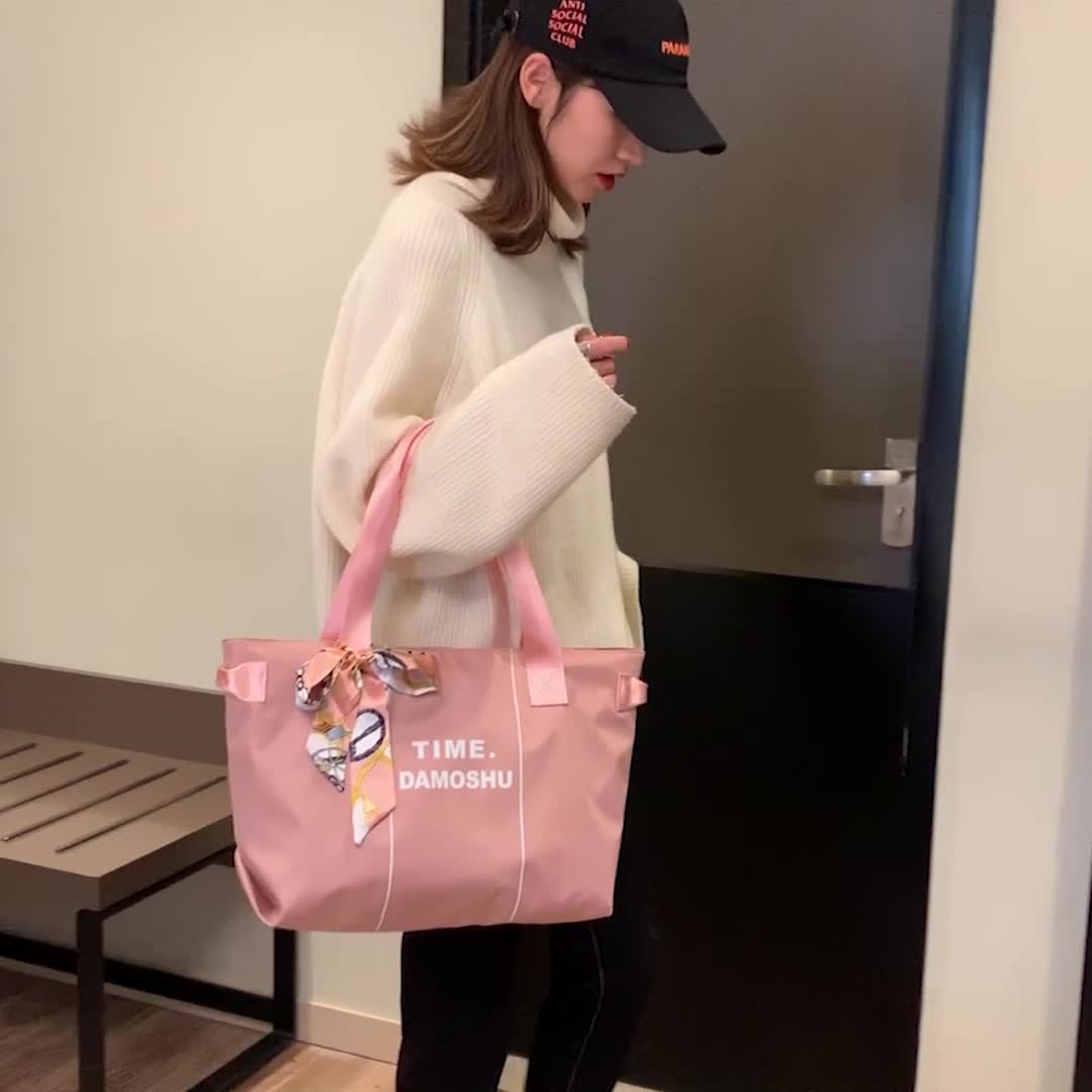 2019 en nylon de mode écharpes Sac De Voyage Grande Capacité Porter Sacs À Main Fourre-Tout Sac pour dame et femmes à la mode messager sac