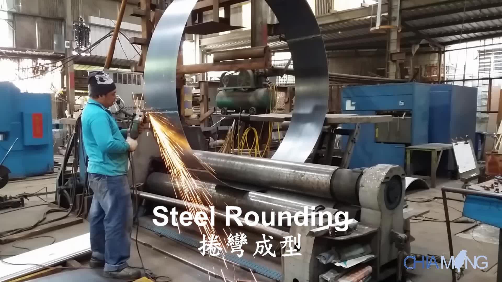 शीट धातु निर्माण oem धातु शंकु काता कताई रोल