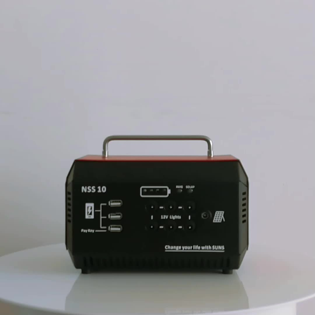 Pay as you go portable solar power system 30w with mobile charging for Africa market