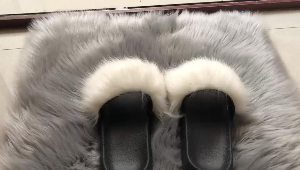 long hair faux fur carpet decorative fur mat 60*60cm rug