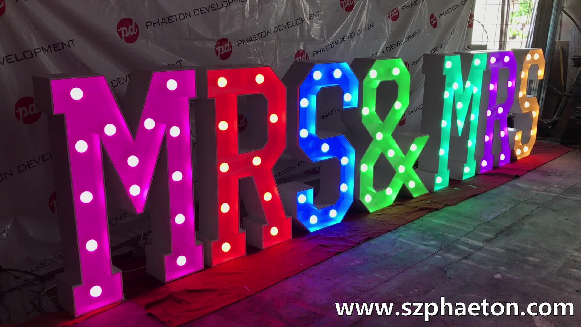 waterproof led giant big marquee letter, light up letters