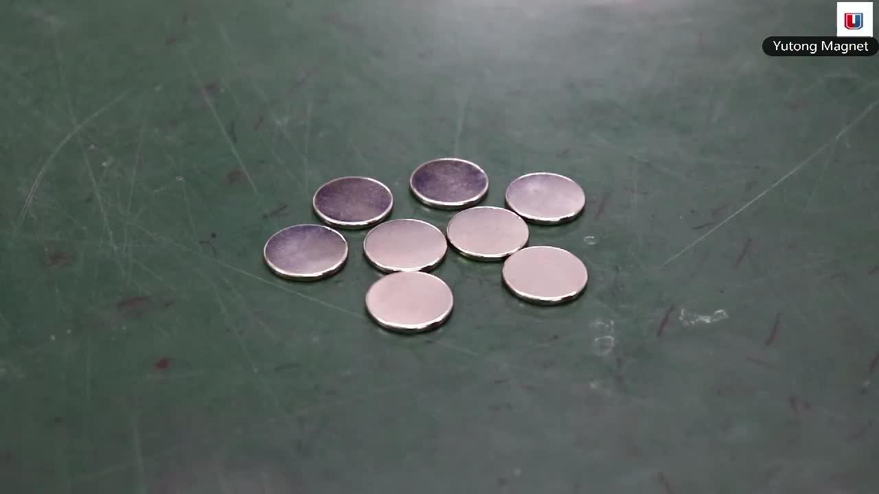 """Sınıf N52 en Güçlü neodim disk mıknatıslar 1.26 """"Çap x 1/16"""" Kalın"""