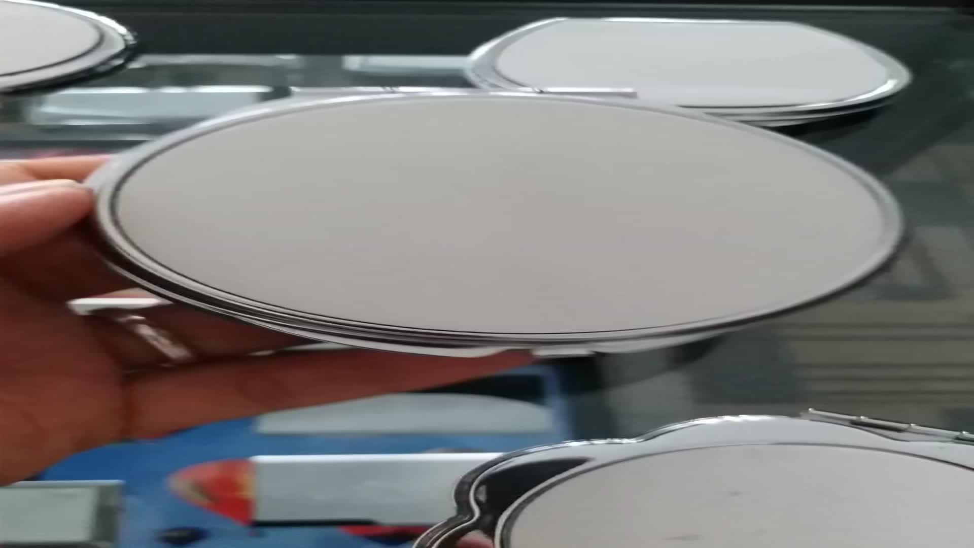 O costume B123 OEM personalizado personalizou o espelho compacto do metal em branco para a sublimação
