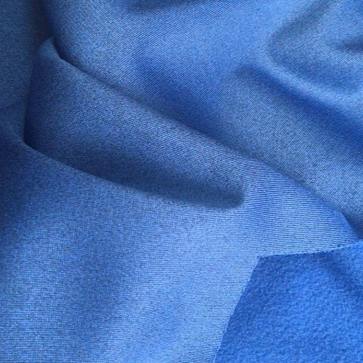 Geri dönüşümlü fırçalanmış triko ağır melanj kumaş polyester bayan eşofman