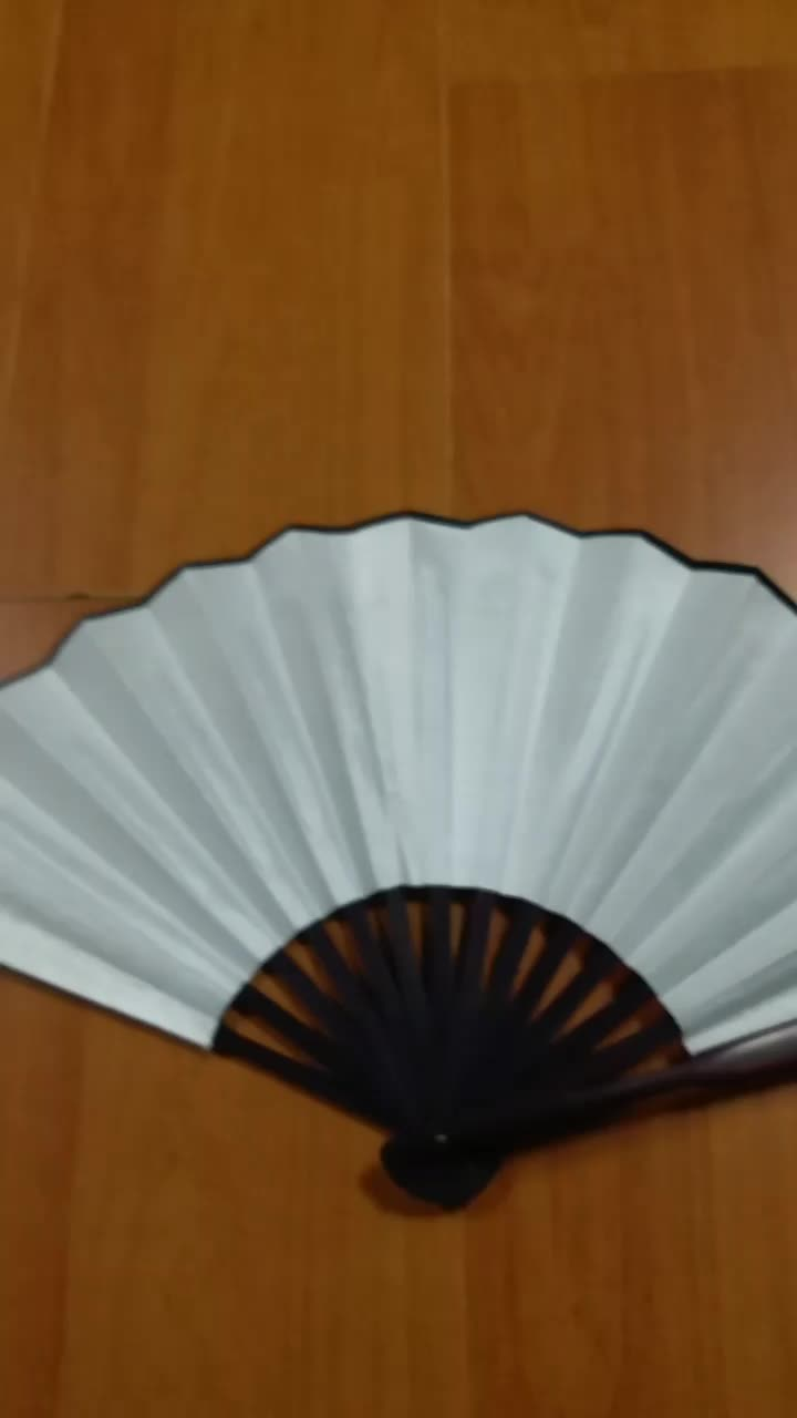 10 inches customized bamboo fabric foldable blank hand fan