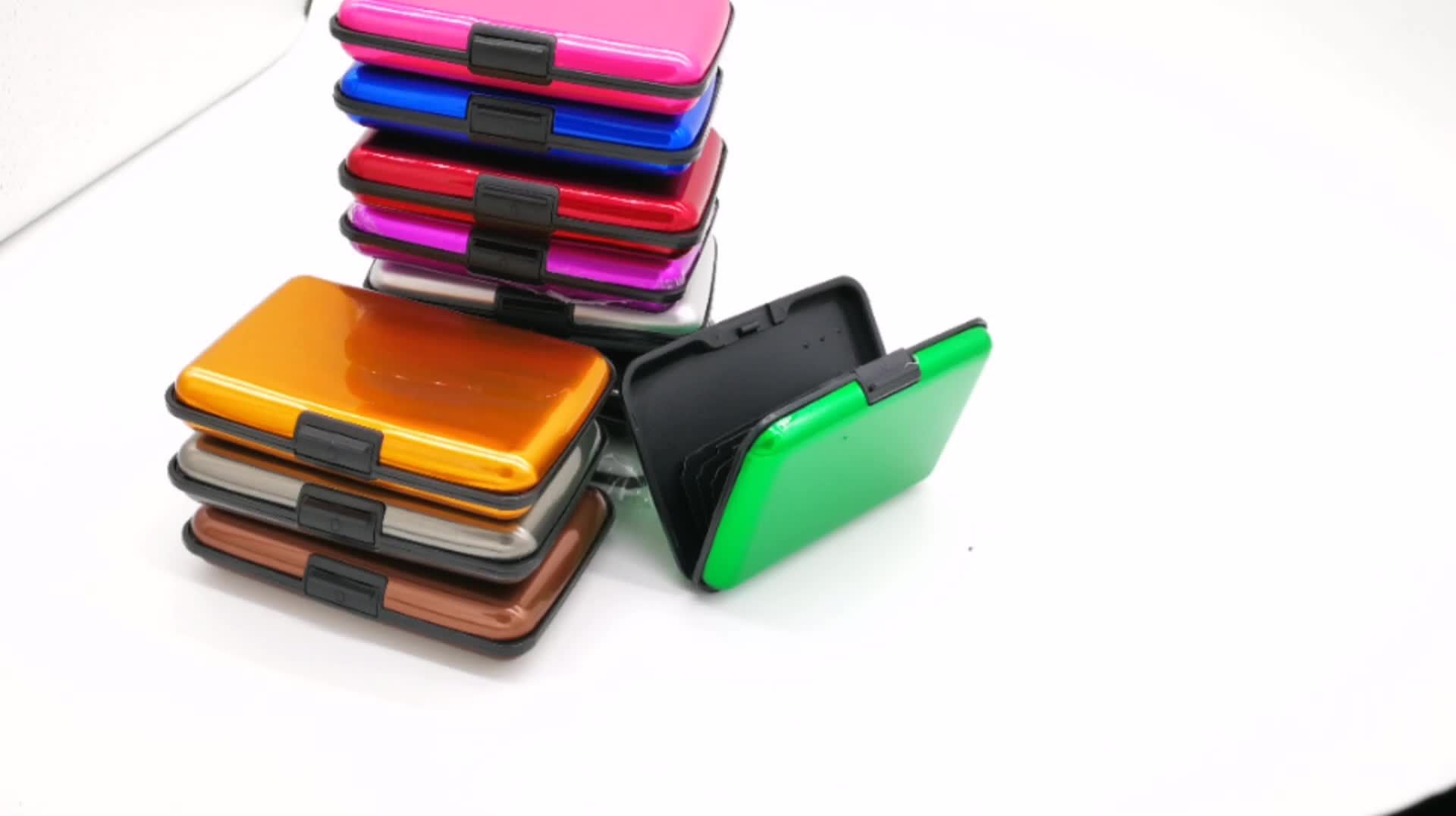 MOQ kecil RFID Memblokir waterproof id bisnis kartu kredit dompet pemegang