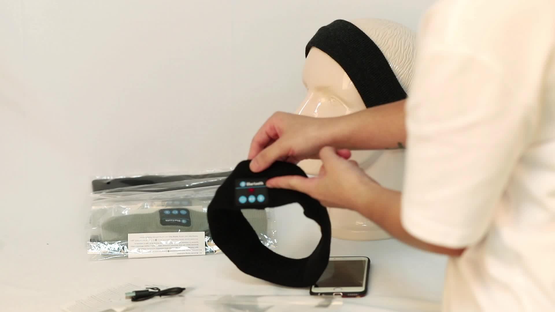 Personalizzato Music Bluetooth Hairband Elastico Usb Fascia All'aperto di Sport Della Fascia