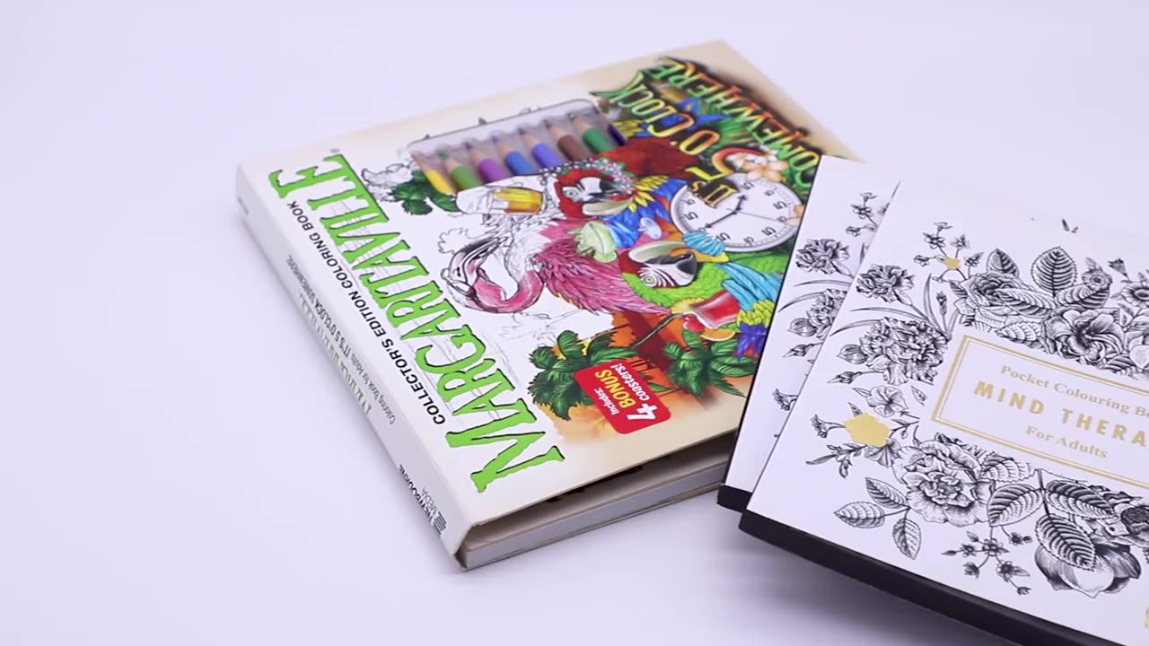 Factory Custom Book Printing  Service Adult Coloring  Printing Colouring Books Printing