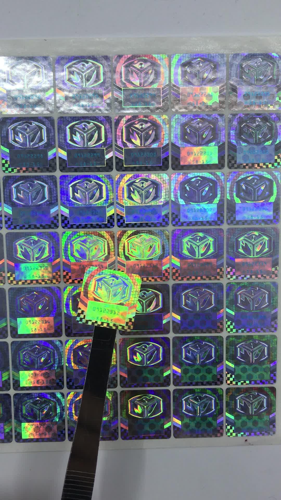 3D hologram security sticker in rolls or in sheets,Nice holographic foil sheets 3d print hologram on paper sheet
