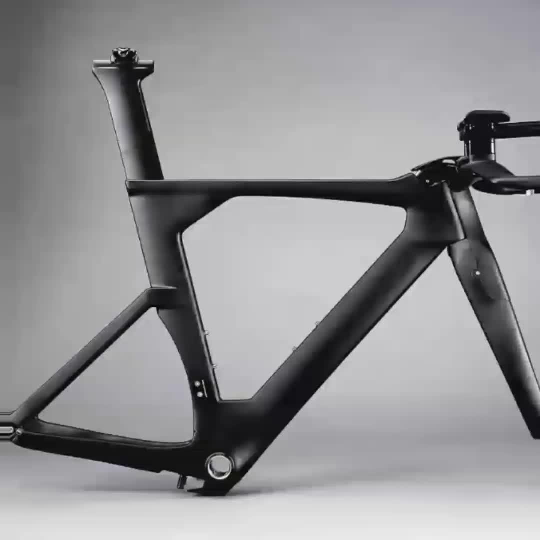 Hot Sale 700c OEM Carbon TT Bike Frame,Time Trial Carbon Triathlon Bike Including Frame,Fork,Headset,Seatpost&stem