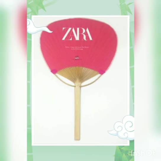 2019 new custom printed bamboo round paper paddle fan as wedding favor