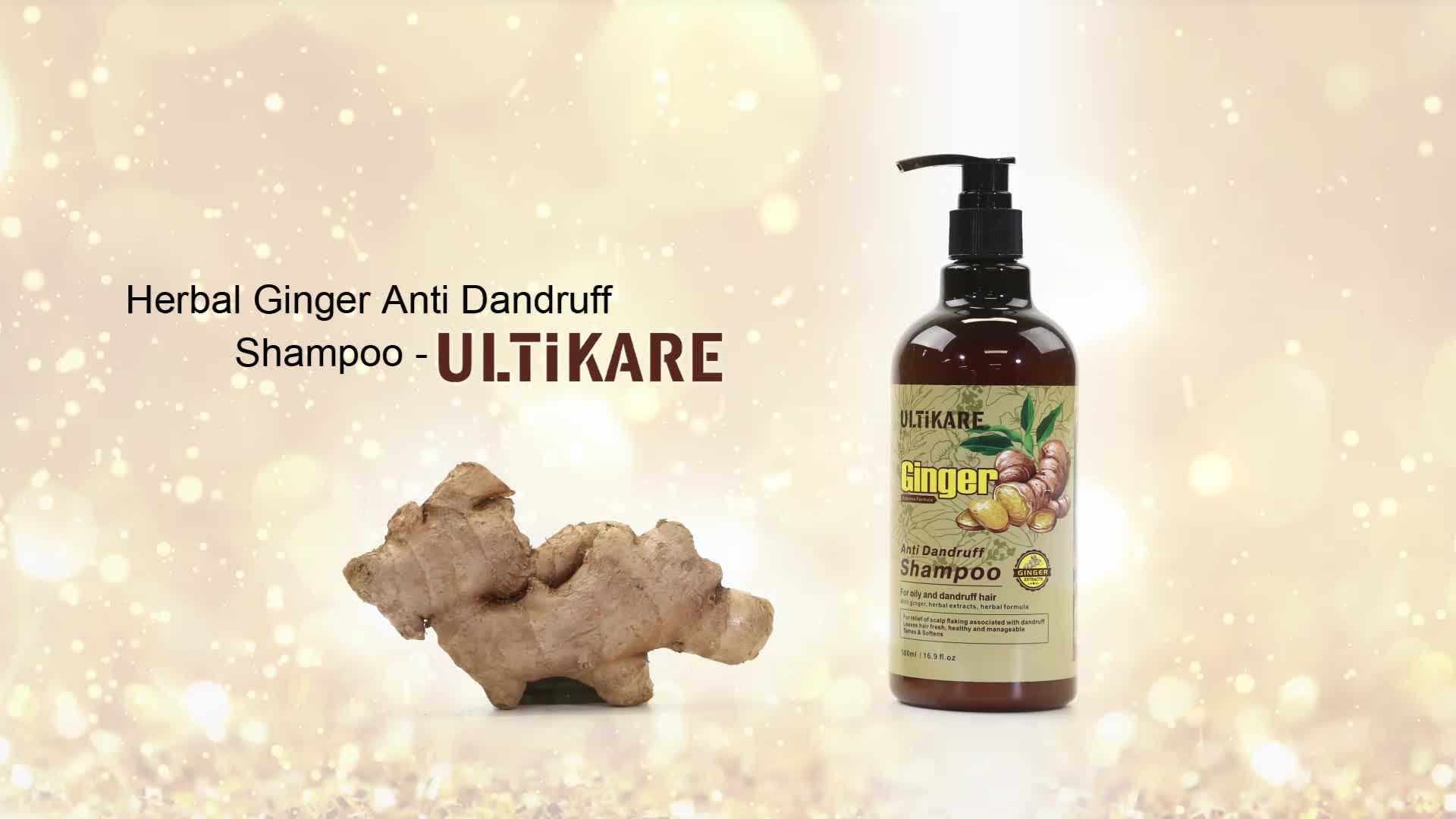 Private label best quality natural wholesale organic ginger moisturizing shampoo