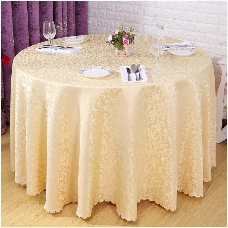 Cerimonia nuziale del partito banchetto tovaglia da pranzo rotondo stampato panno di tabella del jacquard