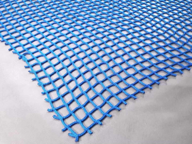 Preço barato UV estabilizado poliéster durável sem nós rede de segurança para proteção contra quedas de cor cinza