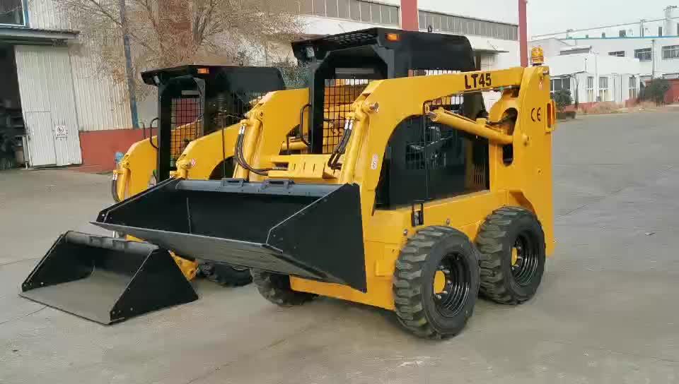 China skid steer loader ltmg garfo pallet skid steer loader 1500kg skid loader anexos