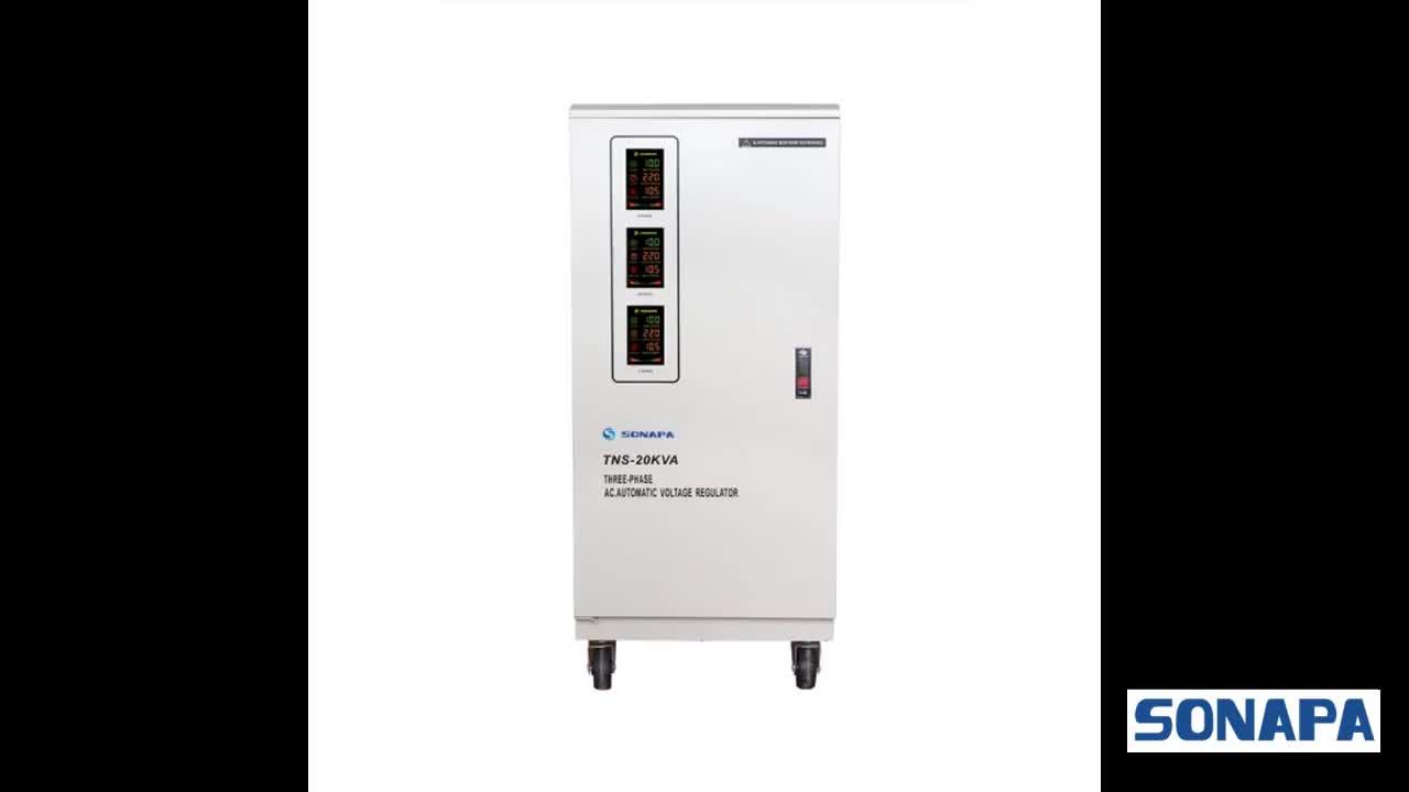 60kva three phase industrial voltage stabilizer servo voltage stabilizer price