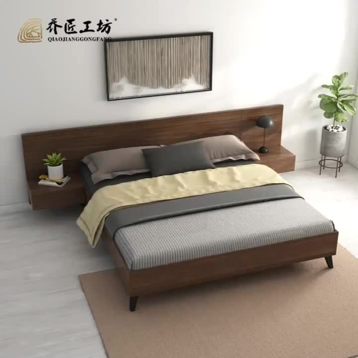 Modern Design Bed Room Furniture King Size 5 Star Hotel Wooden With Storage