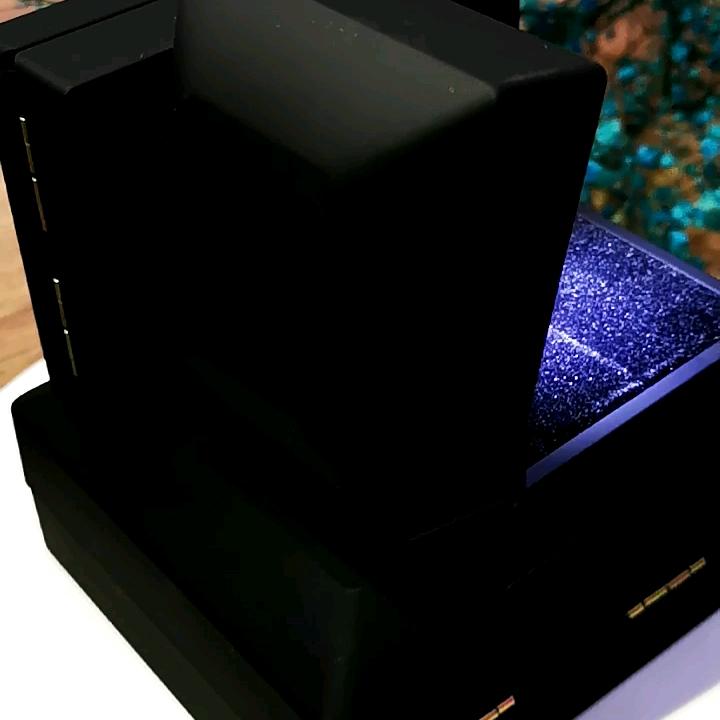도매 2019 맞춤형 로고 플라스틱 보석 LED 반지 상자 반지 팔찌 펜던트 팔찌 보석 상자 빛