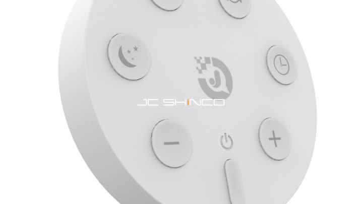 捷创白色遥控器风扇遥控器纽扣式遥控器QQ遥控器