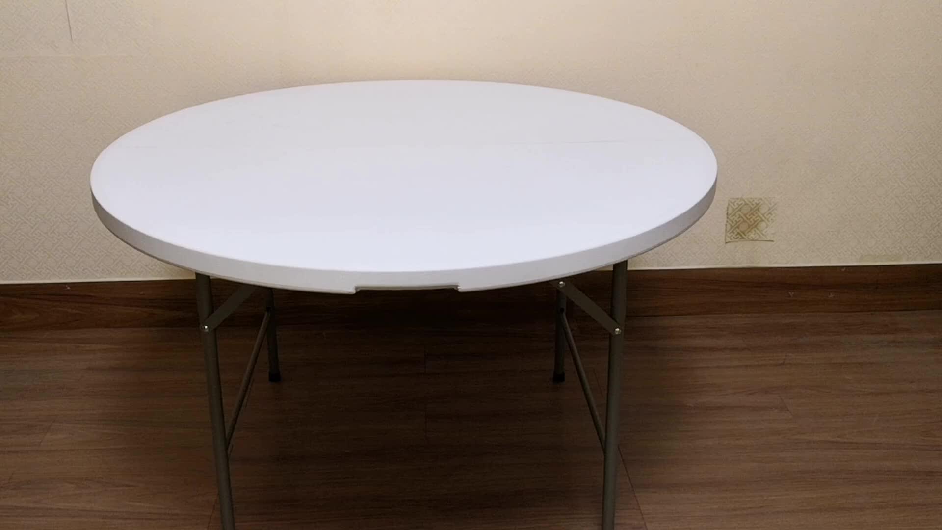 """72 """"/6ft दौर पोर्टेबल द्वि-गुना ग्रेनाइट सफेद प्लास्टिक भोज/घटना तह टेबल"""