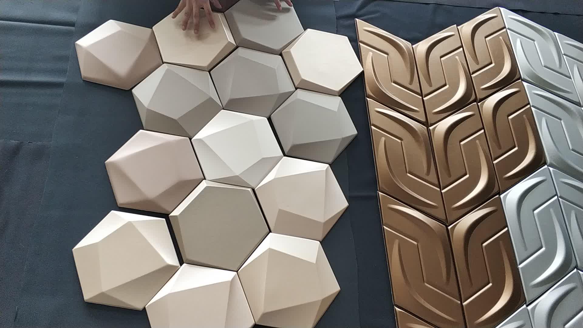 Decoración Para el hogar, decoración de pared 3D 4D, moderno, breve, arte clásico, papel tapiz de panel de cuero PU