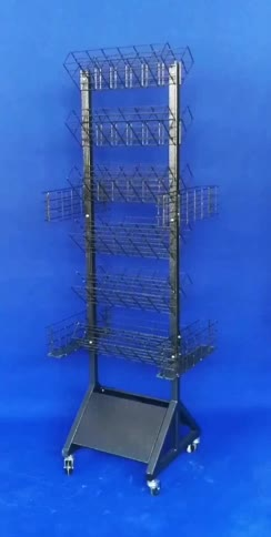retail shop steel rack promotion mobile metal umbrella display stand with multi functions