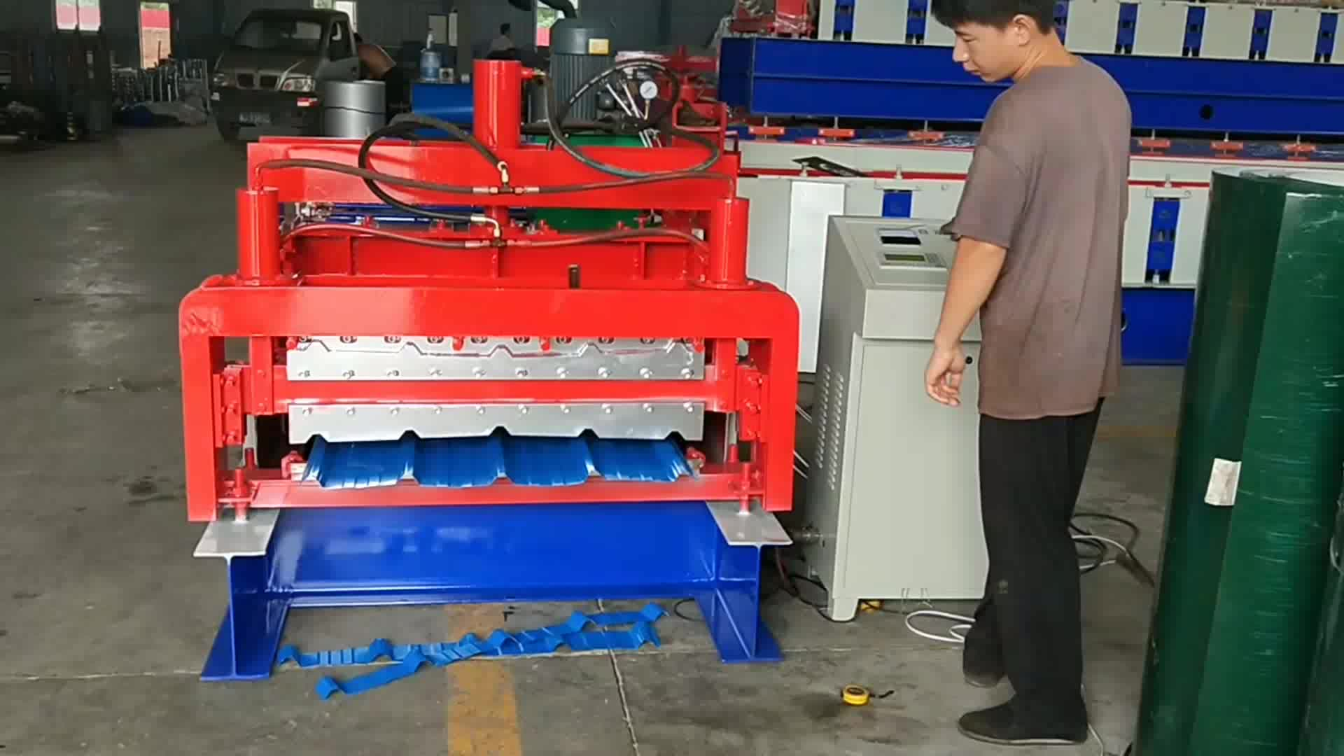 Metal Roof Tile And Glazed Tile Double Layer Roll Forming